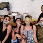 Five sexy latina girls gagged for fetish video