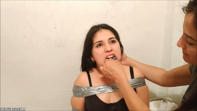 Sisters bound and gagged for gag kissing 2