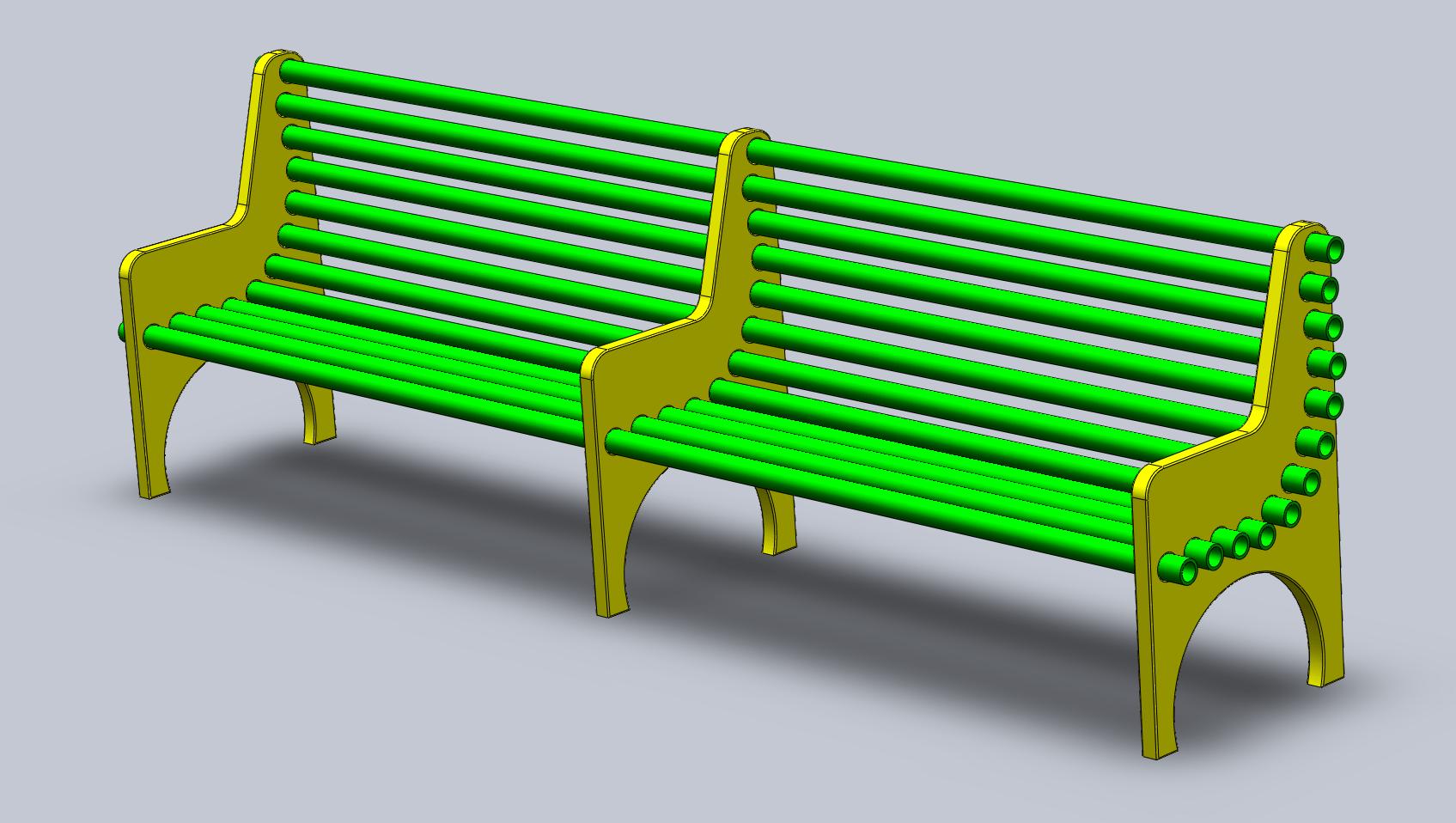 diy pvc pipe sofa art mebel bench  the gahooa perspective
