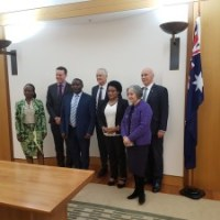 The Rwandan People Government in exile on an official visit in Australia.