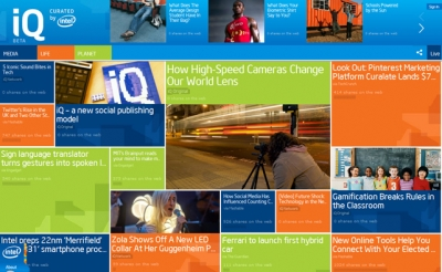 Intel iQ is a new social-publishing platform and the latest content-marketing experiment from the technology giant.