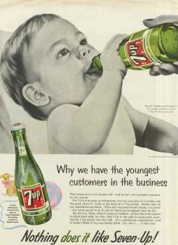 Rewind '50s Era 7Up Campaign Depicted Soda Guzzling