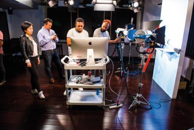 PepsiCo team works in the company's state-of-the-art content studio in Manhattan.