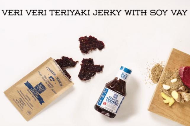 Clorox Co.'s Soy Vay has teamed with Three Jerks Jerky on a Kickstarter campaign behind Veri Veri Teriyaki
