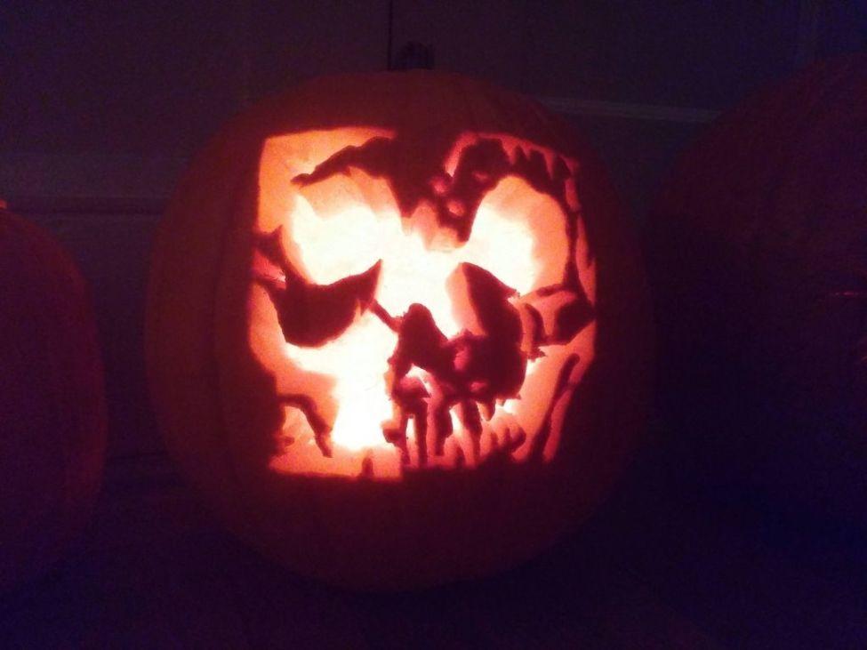 ELECTROWEEN 2015 pumpkin carved by VII