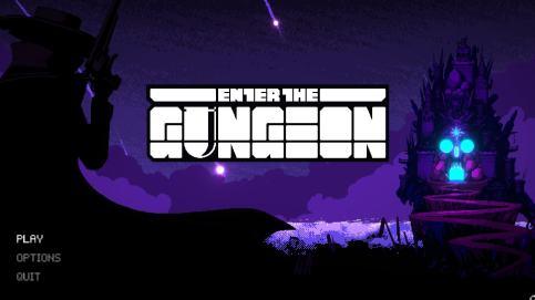 Enter The Gungeon Title Screen
