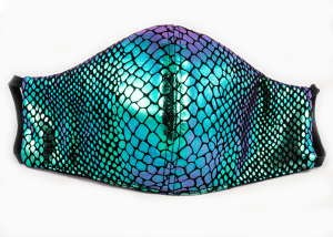 Holographic Fitted Face Mask | Triple layered, sewn-in filter, reusable & washable