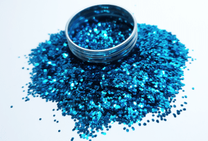topaz blue biodegradable glitter