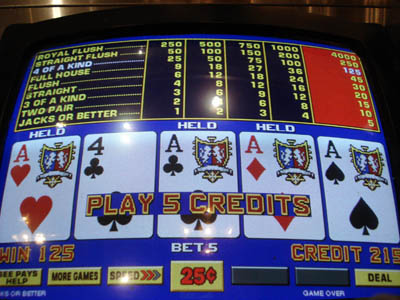 video poker , gioco d'azzardo