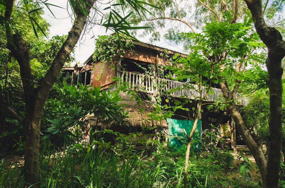dormitory community space Gaia Ashram natural building