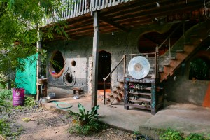 Gaia Ashram sala community space mudhouse natural building