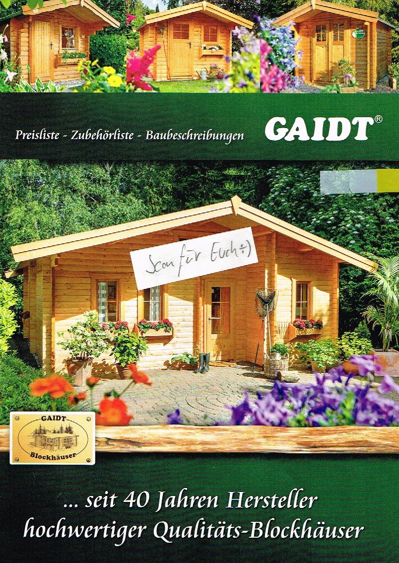 27) Gaidt Preise Mit Preisliste Gartenhäuser Für 2017 | Gaidt