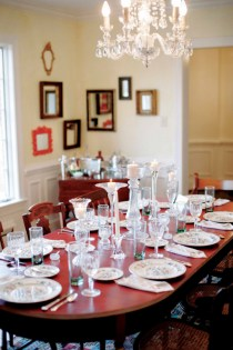 The dining room at the house at Gaie Lea in Staunton, VA