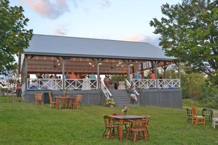 The pavilion at Gaie Lea in Staunton, VA