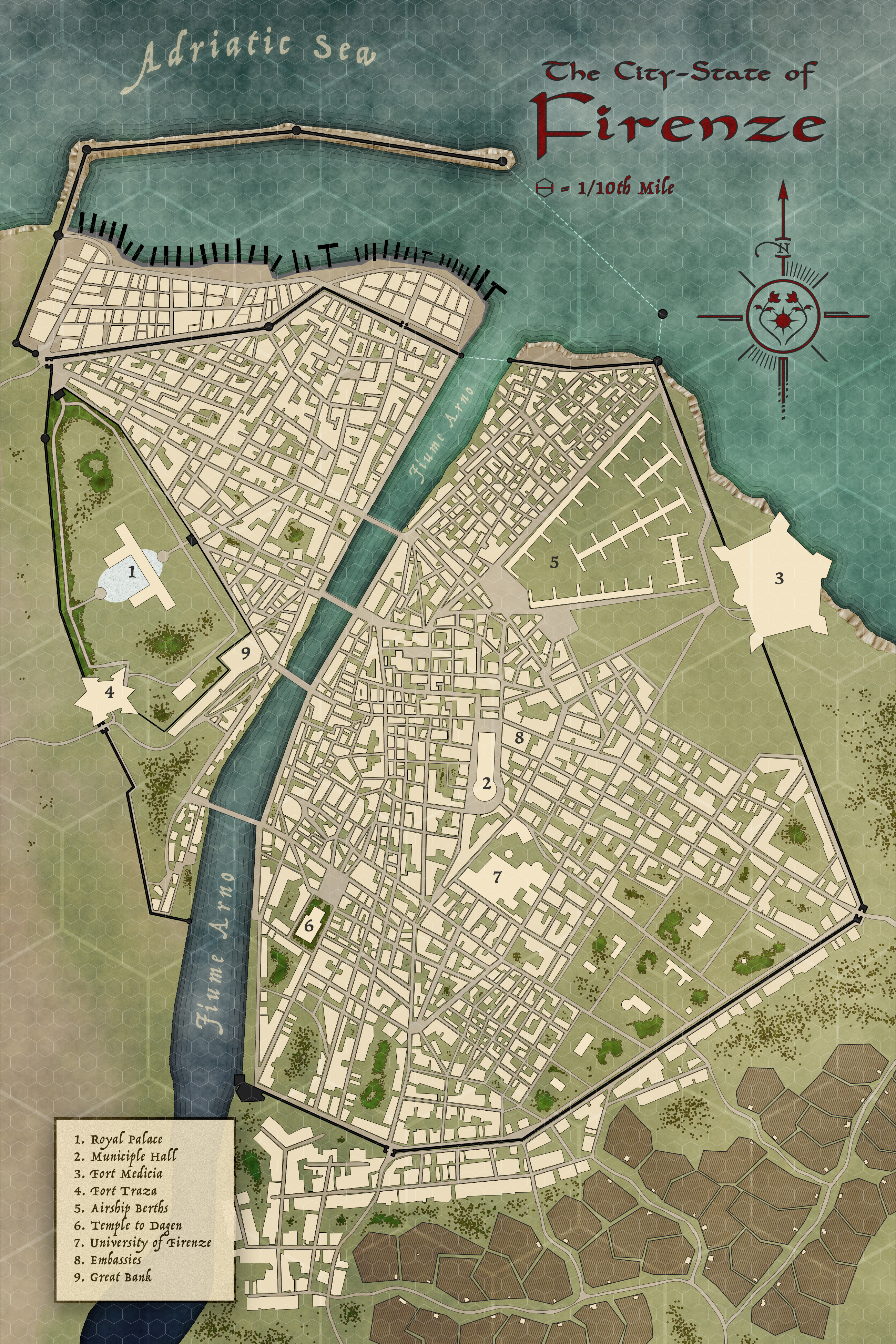 Create A Fictional City Map : create, fictional, Designing, Fantasy
