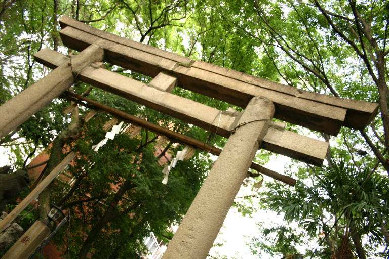 Torii of a shrine near my uncle's apartment