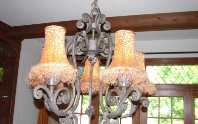 Fabric shades for a chandelier, an amazing finishing touch!