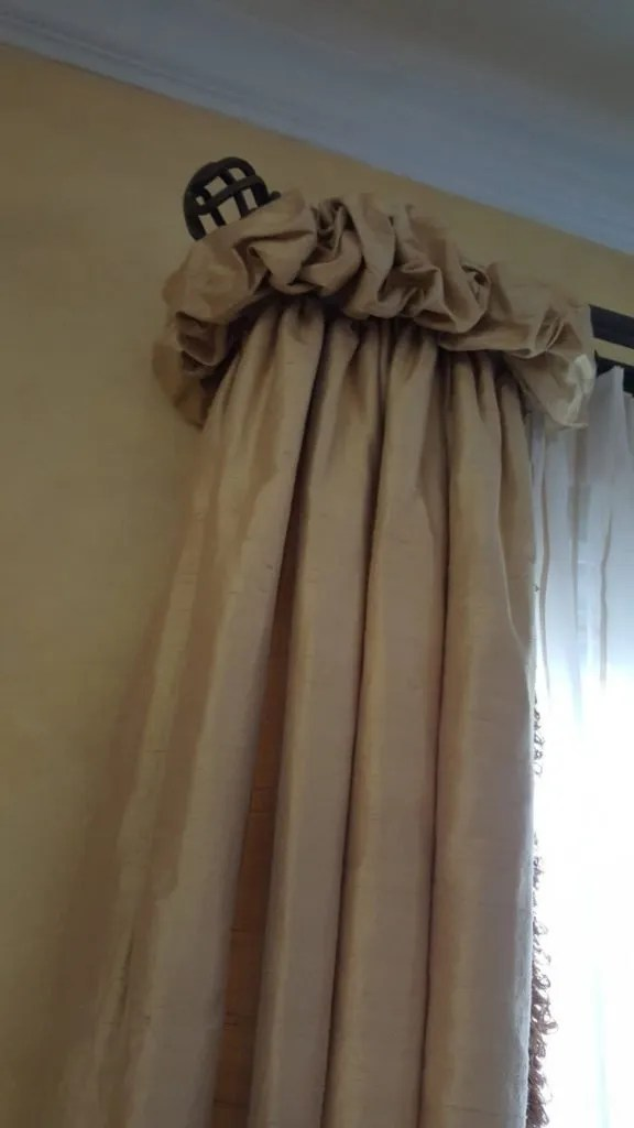 silk ruched panels