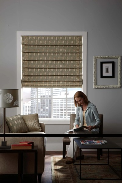 """Hobbled (also called """"Waterfall"""") Roman Shades"""