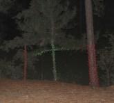 Crosswise Christmas lights