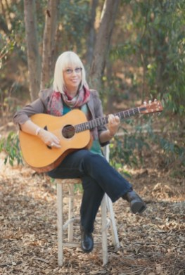 Gail with the guitar