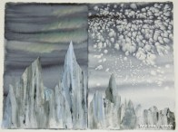 © Bobbie Larson - Collage and painting techniques capture the qualities of ice.