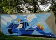 La Comunicacion - murals by Efrain Recinos, Guatemala