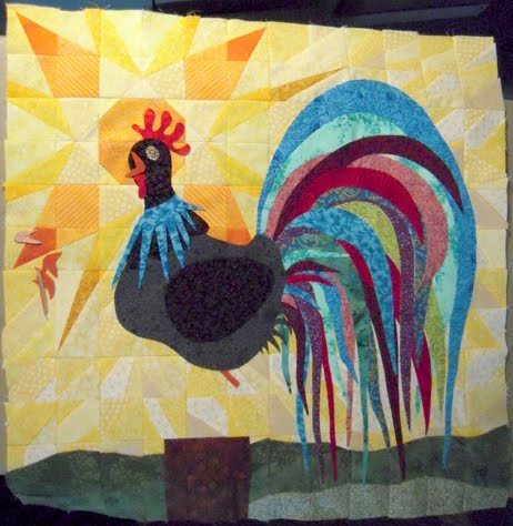 rooster quilt pieicing