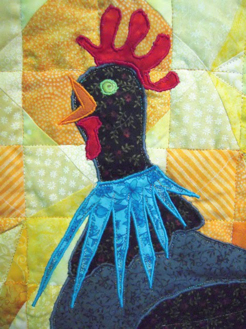Rooster quilt head