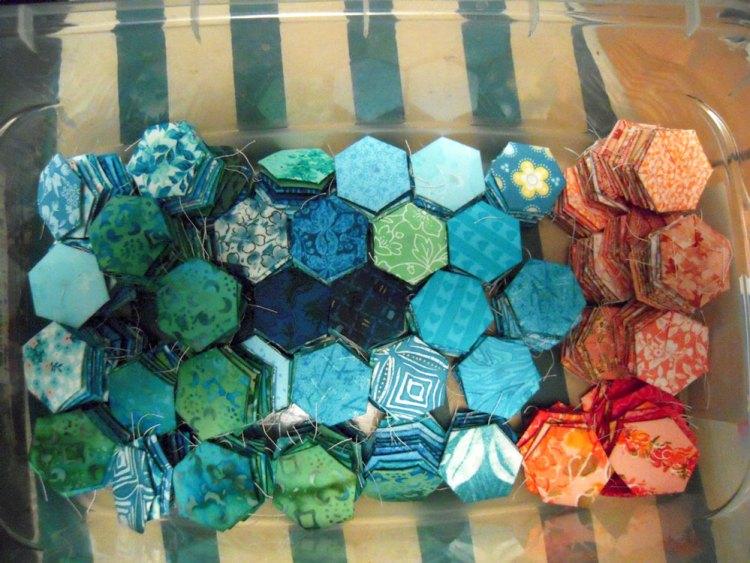 piles of hexies