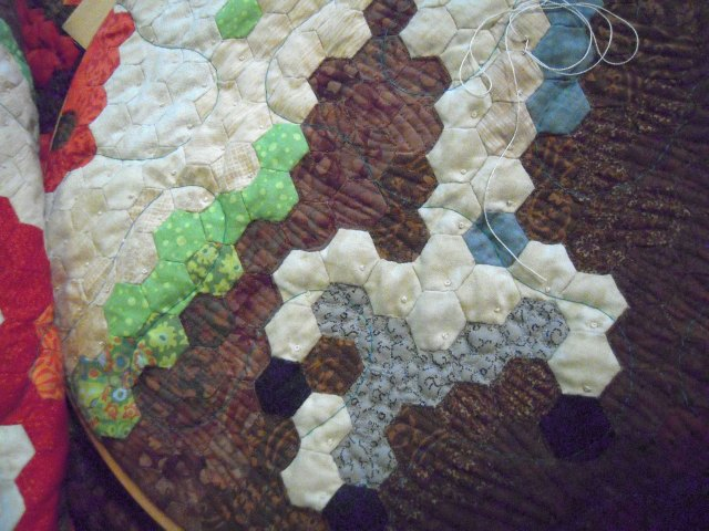French knots as quilting