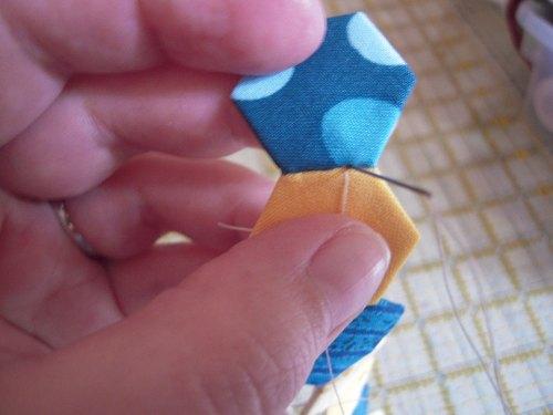 row stitching hexies