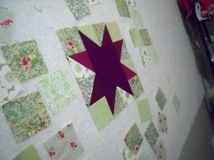 Star on design board