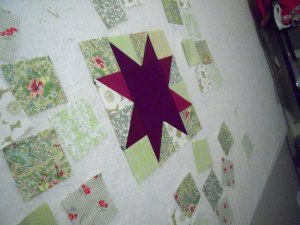 Star on design board