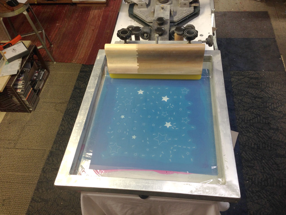 49059dc5 Since we are printing on fabric that people may want to iron, we want to  use waterbase or discharge inks for printing. That way the end user can  freely wash ...