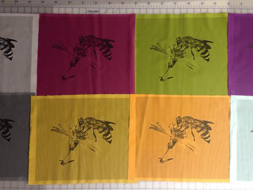 honeybee fabric panels