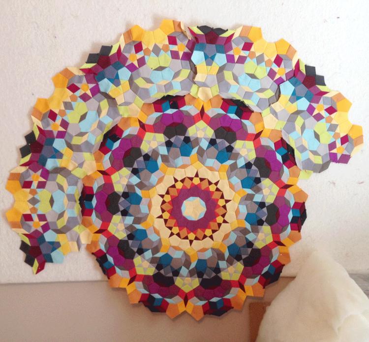 kaleidoscope quilt progress