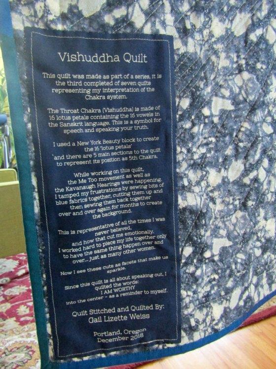 Vishuddha Quilt Label