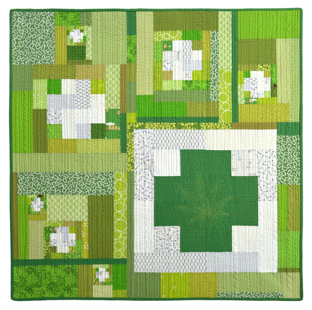 Green Cross Series Quilt #3