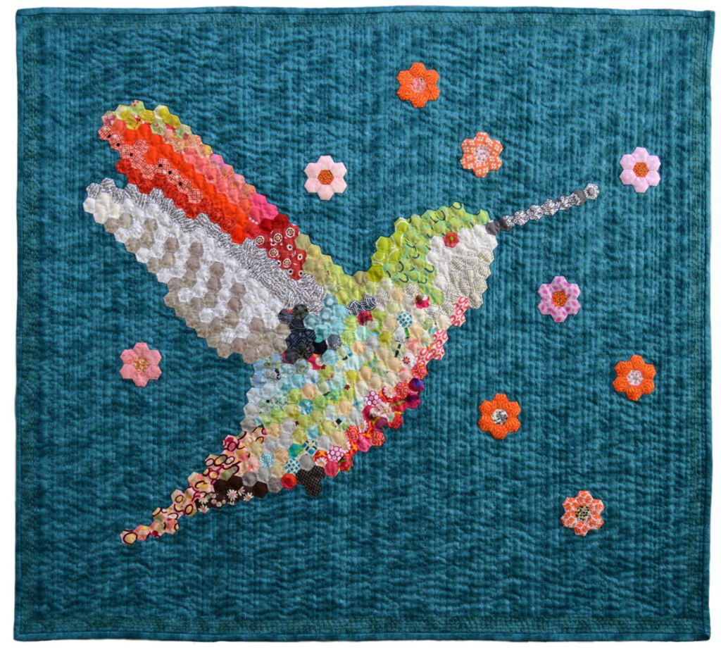 Hexie Hummingbird No.2 Quilt