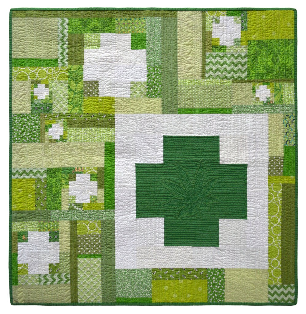 Green Cross Series Quilt #4