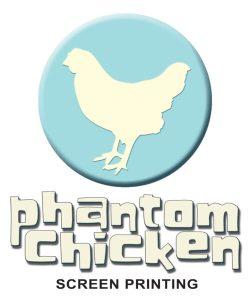 phantom chicken screen printing