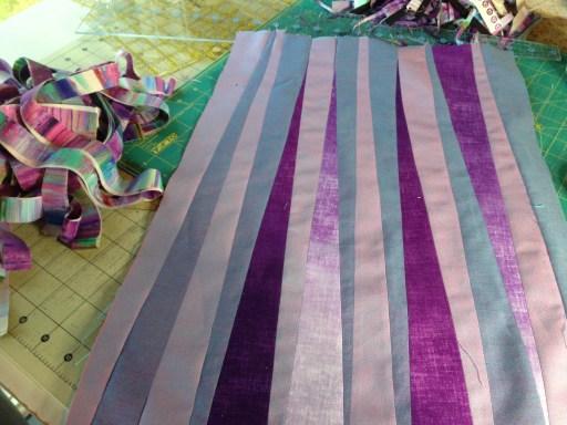 purple scrap quilting