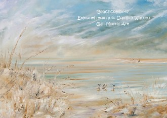 'Beachcombers' Exmouth towards Dawlish Warren - Mounted Prints from £30 p&p inc, Larger Framed Prints available on collection only from £65 - £125 - please ask for sizes - Greeting Card £2