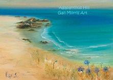'Agapanthus Hill' Isles of Scilly Greeting Card A5 size