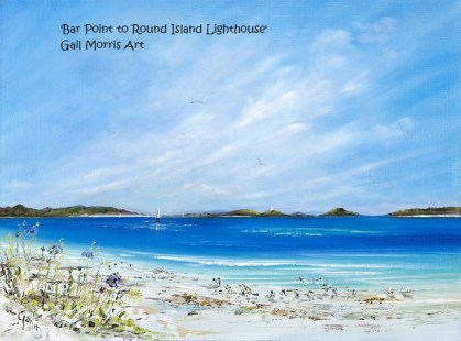 'Bar Point to Round Island Lighthouse' Isles of Scilly Original Oil Painting £245 Prints from £40 inc pp