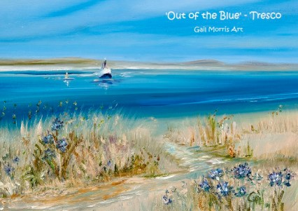 'Out of the Blue' Tresco - Isles of Scilly Greeting Card A5 size
