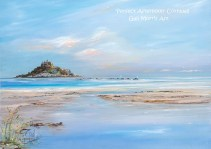 Perfect Afternoon St Michaels Mount Cornwall Greeting Card A5 size