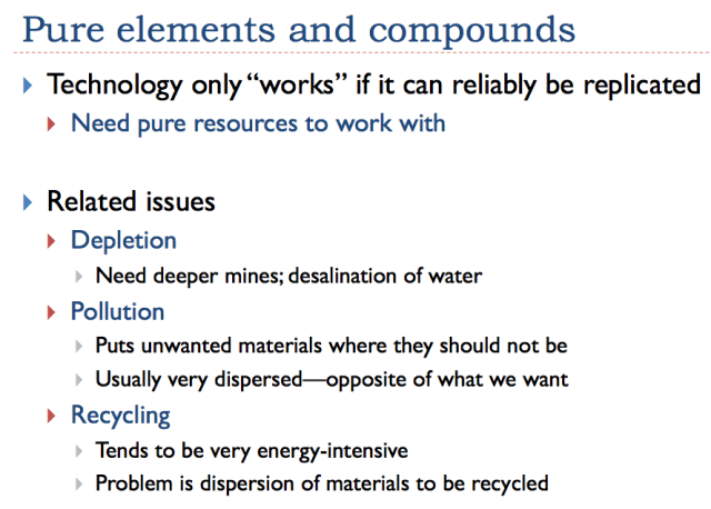 Slide 15. Why pure elements and compounds are needed for complexity