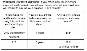 Minimum Payment Warning Does It Make A Difference